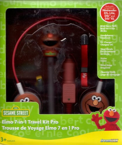 Dreamgear: Elmo 7-in-1 Travel Kit Pro (For Nintendo Ds Lite, Dsi, Dsi Xl) (Ds Game Year Old 4 For)