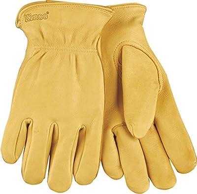 KINCO 90-L Men's Unlined Gloves, Grain Deerskin Drivers, Large, Brown