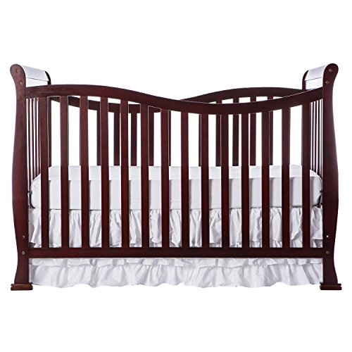 Dream On Me Violet 7 in 1 Convertible Life Style Crib, Cherry ()
