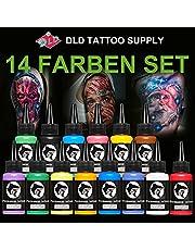 14 st Professionell tatueringsbläckuppsättning 14 färger 1 oz 30 ml/flaska tatuering Pigment Kit Tatuering & Body Art Makeup Pigment