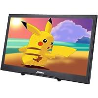 JOHNWILL tragbarer Bildschirm 11,6 Zoll Ultra HD 1920 x 1080 IPS LCD/LED tragbarer Monitor HDMI VGA Port, Lautsprecher eingebaut, Metallgehäuse schwarz