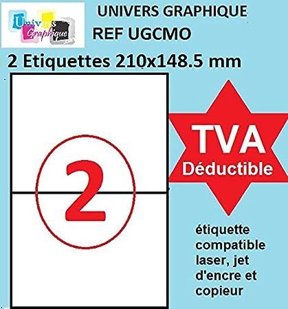 100 A4 foglio di adesivo 21 70 x 42 mm etichetta di carta etichetta adesiva per una stampante a getto dinchiostro e laser