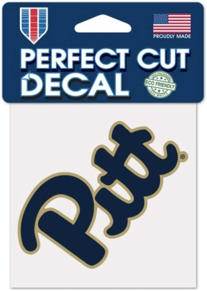 WinCraft NCAA University of Pittsburgh Panthers 4x4 Perfect Cut Decal Sticker