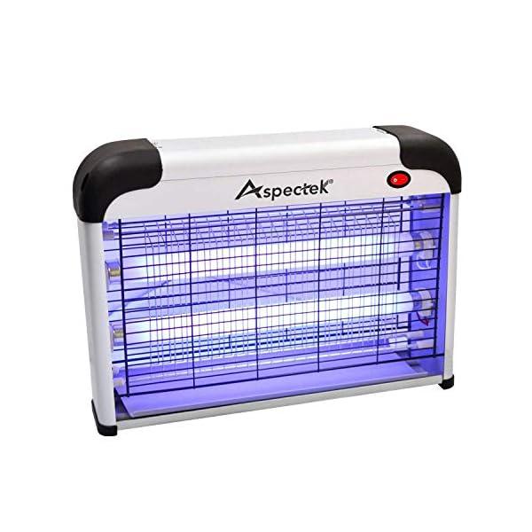 ASPECTEK Elettroinsetticida, 20 W, Luce UV, attira Le Mosche e Gli Insetti Volanti e li Uccide, UK Plug 1 spesavip