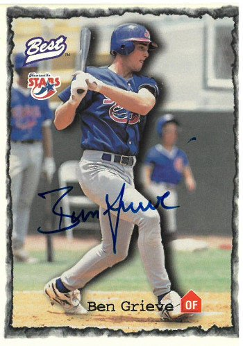 Ben Grieve Signed Huntsville Stars 1997 Best Cards Baseball Card 1998 Rookie of the Year - Autographed MLB Cards