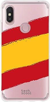 Funnytech® Funda Silicona para Xiaomi Redmi S2 [Gel Silicona Flexible, Diseño Exclusivo] Bandera España Transparente: Amazon.es: Electrónica