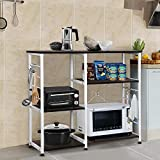 Best Microwave Cart With Shelfs - Yaheetech 35.5'' Microwave Cart Kitchen Baker's Rack Microwave Review