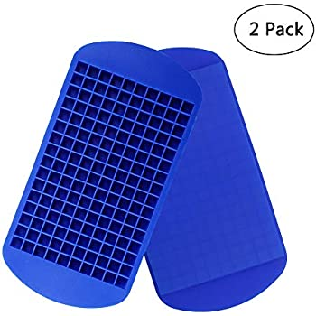 Amazon.com: 150 Grids Mini silicona Ice Cube bandejas con ...