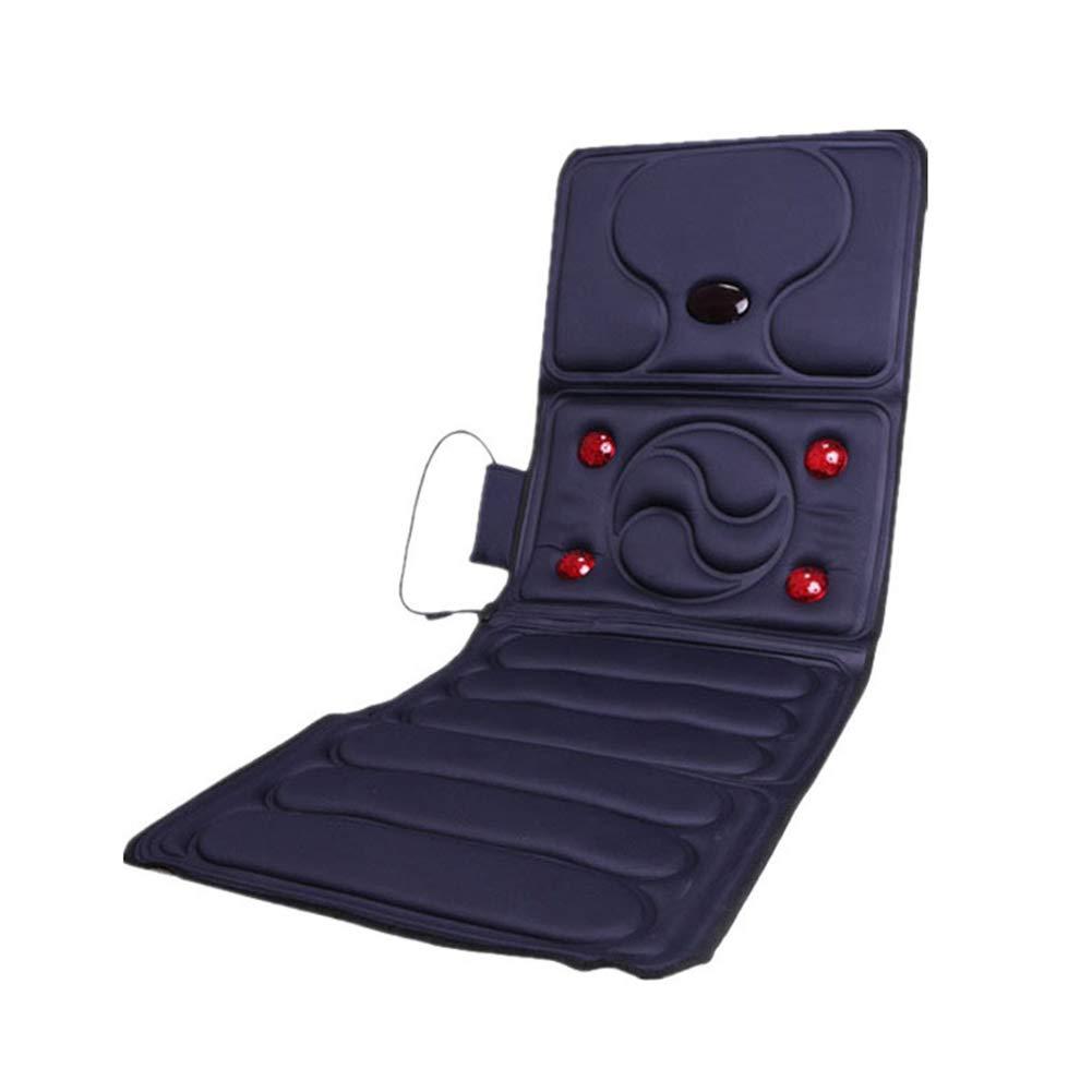RAAKIMO マッサージシート 5つ赤ライト 9つモーター 温熱/振動 4つ折り コントローラー付き 首肩腰背中太ももに対応   B07MSGZJ1D