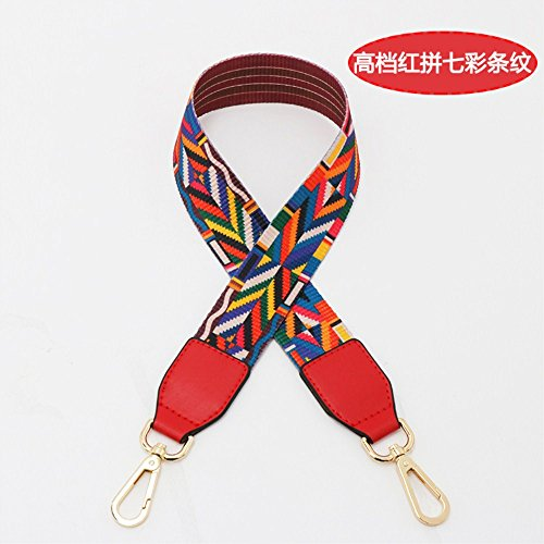 (Red Woven belt Wide 3.8cm / Length 73cm Mini Purse/Shoulder/Cross Body Bag Replacement DIY Strap replacement purse strap)