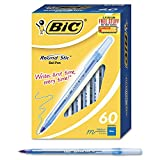 BIC Round Stic Ballpoint Pens, Select Color (Medium, 60 ct.)- Pack of 2