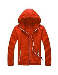 Panegy Unisex Windbreaker Waterproof Rain Jacket Hoodie Skin Coat Quick Dry