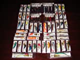 Lot of 64 New in the Box Bass Trout Redfish Musky Crankbait Fishing Lures with Spoons, Outdoor Stuffs