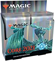 Magic: The Gathering Core Set 2021 (M21) Collector Booster Box | 12 Packs | Min. 4 Rares Per Pack | Latest Set