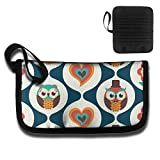 Gili Love Owl Travel Wallet Travel Passport & Document Organizer Zipper