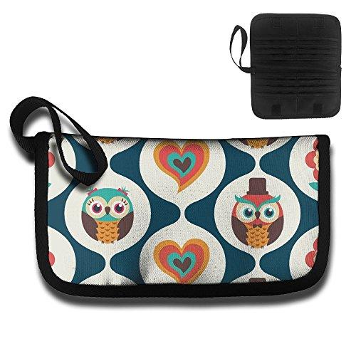 Gili Love Owl Travel Wallet Travel Passport & Document Organizer Zipper by Gili