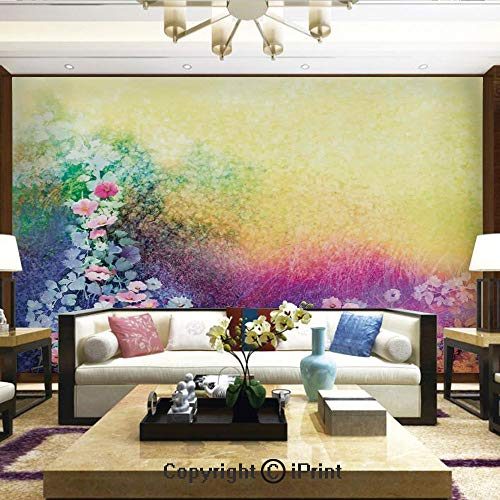 Lionpapa_mural Wall Mural Showing All They Beauty Extremely Detailed Image, Ivy Floral Beauty in Spring Soft Natural Paradise Print,Home Decor - 100x144 inches ()