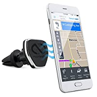 Naztech MagBuddy Magnetic Air Vent - Soporte para teléfono para automóvil. Soporte ajustable para llamadas de manos libres y uso de GPS, compatible con iPhone X /8/8 Plus, Samsung S9 /S9 + /Note8 /Smartphones y más (Negro)