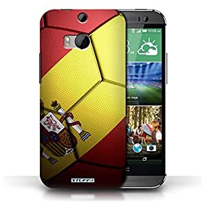 KOBALT? Protective Hard Back Phone Case / Cover for HTC One/1 M8 | Spain/Spanish Design | Football Nations Collection