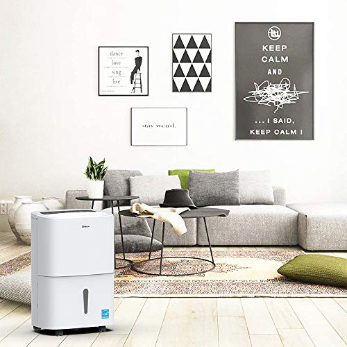SHINCO 70 Pint Dehumidifier with Built-in Pump, Energy Star, for Large Spaces, for Basements, Cellar, Garage, Bathroom, for Spaces Up to 5000 Sq Ft, Effectively Remove Moisture and Control Humidity