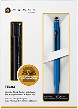 Cross Tech2 Blue Ballpoint Pen with Refills