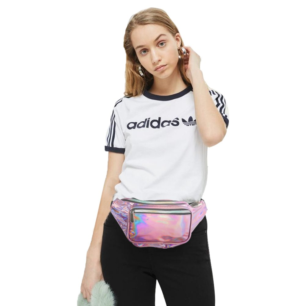 Holographic Fanny Pack for Women - Waist Fanny Pack with Adjustable Belt for Rave, Festival, Travel, Party by Mum's memory (Image #6)