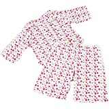 FRILLY LILY PINK FLOWER PYJAMA SET FOR 12-14 INCH [30-35CM] BABY DOLLS ,SUCH AS GOTZ,COROLLE,ZAPF,MY LITTLE BABY BORN,MY FIRST BABY ANNABELL