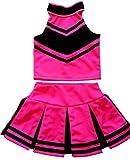 Little Girls' Cheerleader Cheerleading Outfit Uniform Costume Cosplay Halloween Pink/Black (S / 2-5)