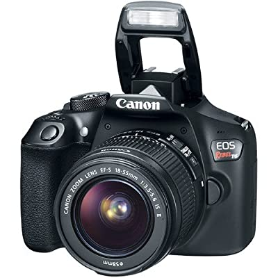 Canon T6 Digital SLR Camera Kit with EF-S 18-55mm Lens (Black) with Free SanDisk Ultra 32GB SDHC Card by Canon