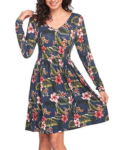 Navy Blue Silk Dress - 9