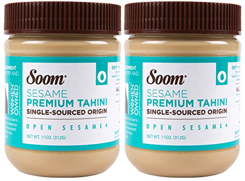 Soom Foods Pure Ground Sesame Tahini 11oz (2 Pack)