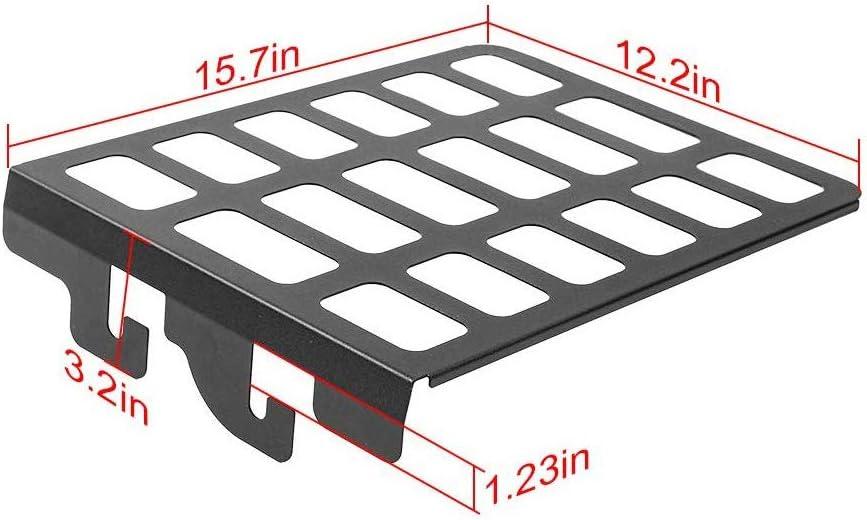 L U Metall Storage Rack Shelf Rear Seat Trunk Organizer Für Jeep Wrangler Jk Jku 2007 2018 Innenausstattung Schwarz 1pc Küche Haushalt