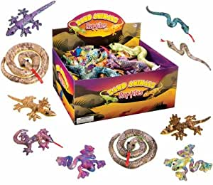 Toysmith Sand-filled Shimmering Reptiles, 1 Count (Assorted Colors and Styles)