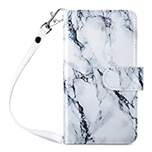 iPhone 6s Case, iPhone 6 Case, 6s Wallet Case, ULAK [Wallet] iPhone 6S Leather Case Synthetic [Folio] [9 Card Multi-Slots] [Flip] [For Women] for Apple iPhone 6s/6 4.7 Inch, Artistic-marble pattern