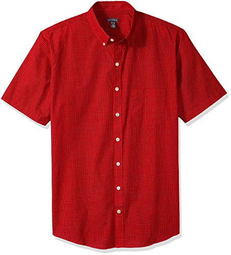 Shirt Heusen Wrinkle Free Van (Van Heusen Men's Big and Tall Wrinkle Free Short Sleeve Button Down Shirt, Rusty Red, 2X-Large)