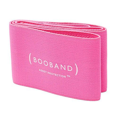 Booband cinta de apoyo ajustable para el pecho, sujetador deportivo alternativo Rosa