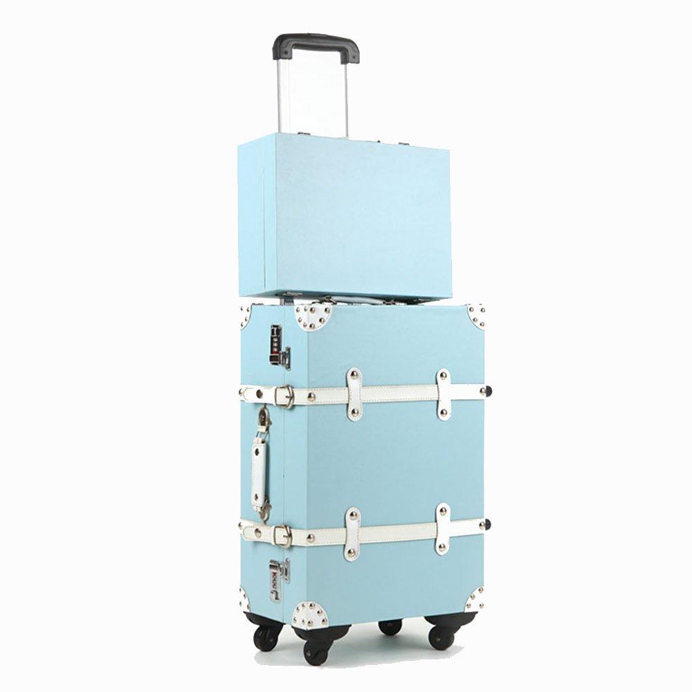 荷物ケース, スーツケース, PU +ソリッドウッドフレームユニバーサルホイール古代の子供のスーツケースメンズと女性の荷物。 荷物エアボックススーツケース B07SK1X2G5