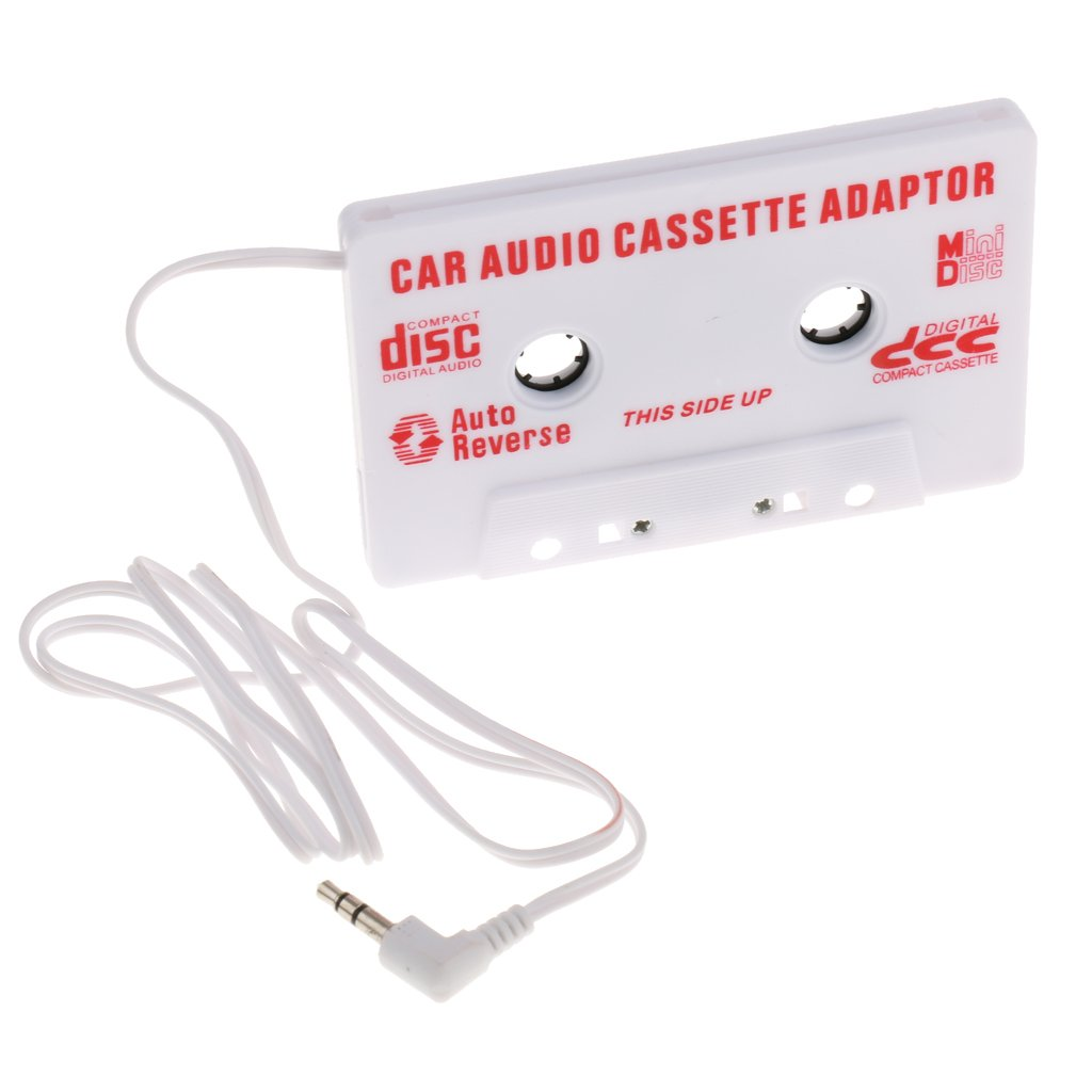 MonkeyJack White 3.5mm In Car Cassette Tape Converter Adapter Driver for Mp3 CD Player