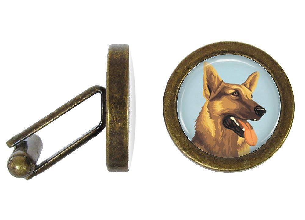 Angled Edition Oakmont Cufflinks German Shepherd Cufflinks Dog Cuff Links
