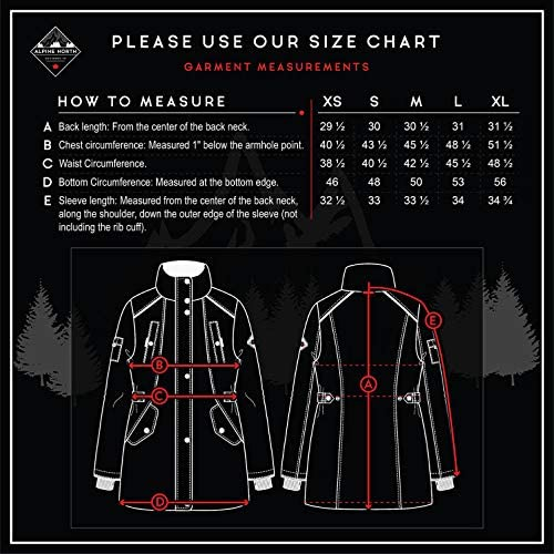 Alpine North Womens Vegan Down Parka Jacket with Faux Fur
