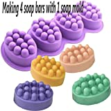 Massage Bar Silicone Molds 4 Cavities 4.5oz Soap Mold Ship from USA ~ US Seller