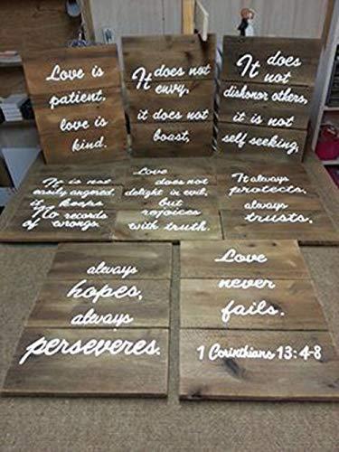 Amazon Com Set Of 8 Love Is Patient 1 Corinthians 13 4 8 Pallet
