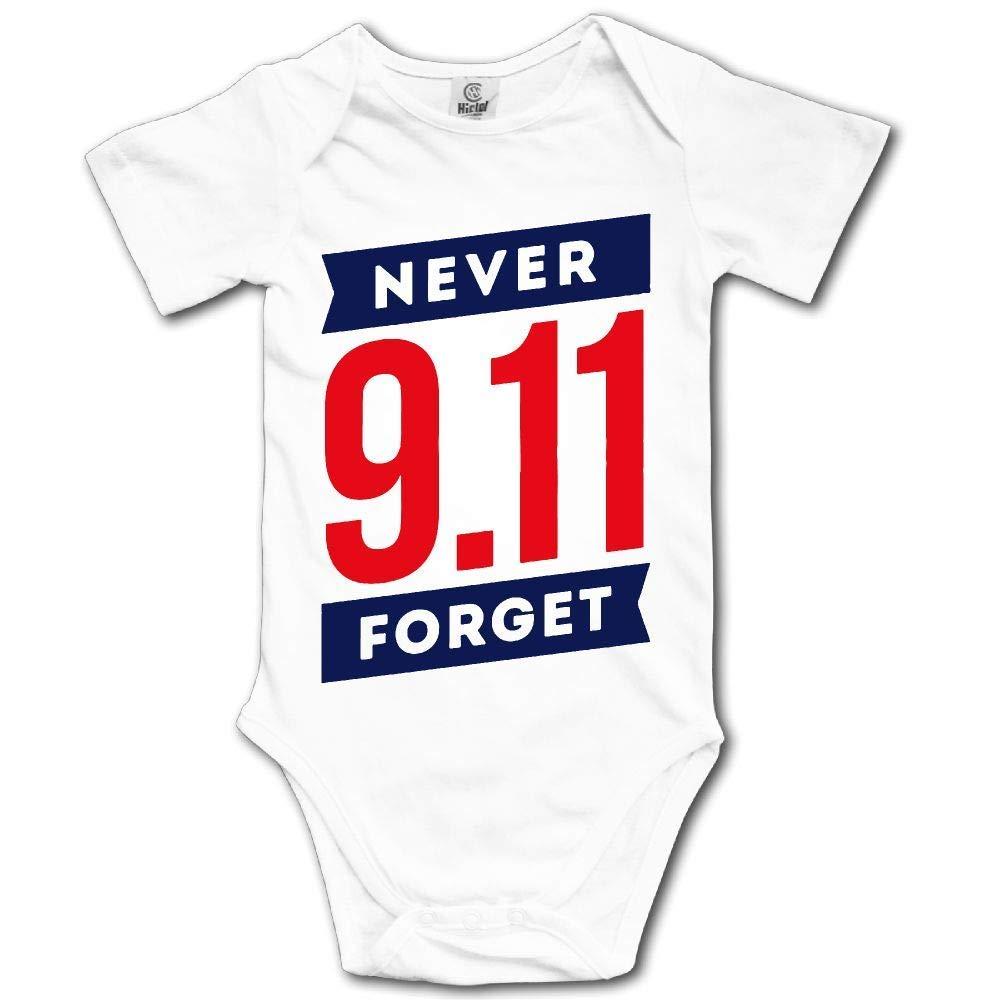HFJFJSZ 911 Never Forget Short Sleeve Baby Bodysuit Onesies
