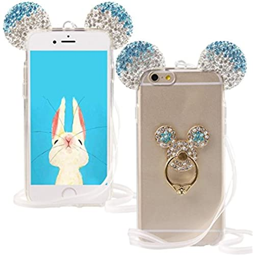Galaxy S7 Edge Case,Jesiya Super Cute 3D Diamond Bear/Mouse Ears Gradient Color With Shiny Glitter Bling Crystal Ear Ring Stand Case Cover For Samsung Galaxy S7 Sales