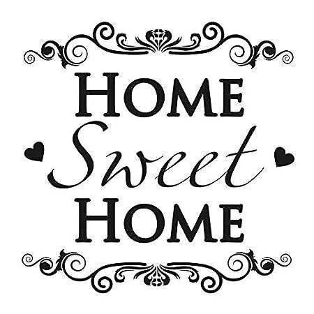 Home Sweet Home N13 Wiederverwendbare Schablone A3 A4 A5 /& gr/ö/ßere Gr/ö/ßen moderner Stil 148 x 210 mm 5.8 x 8.3 in Widerverwendbare PVC-Schablone A5 size
