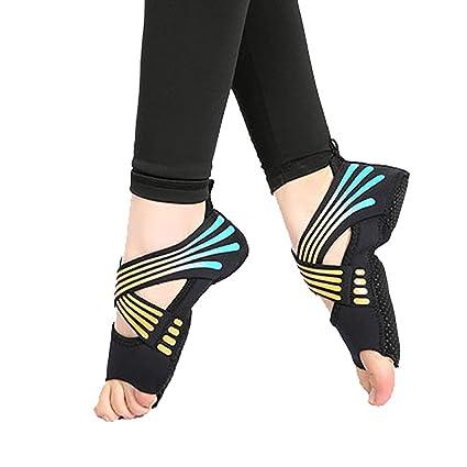 MIIAOPAI Zapatos De Yoga AéReos Interiores con Parte Posterior Abierta, Fondo Blando Antideslizante, Transpirable