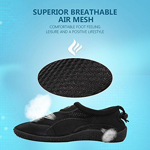 Shoes Swim Women 1black Shoes Aqua CIOR Sports Surf for Pool Drying Boating Beach Quick Men 1 and Water EwaqSaR6xz