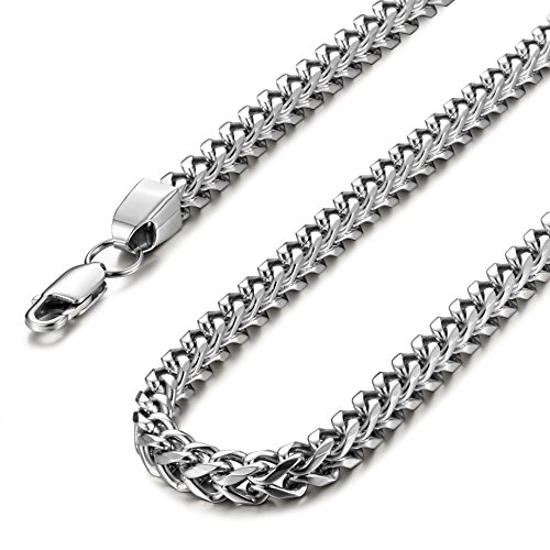 Besteel Stainless Steel 6MM Mens Curb Charm Necklace for Men Chain Link Punk Rock Biker 20-30 Inch by Besteel