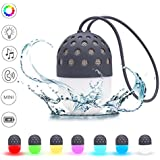 HIYEED Portable Bluetooth Speaker Wireless Speakers Bar Light Bulb IPX4 Waterproof Mini Small Outdoor System Kids Light Up Rechargeable with Colorful LED Night Lights for iPhone Android Smartphones