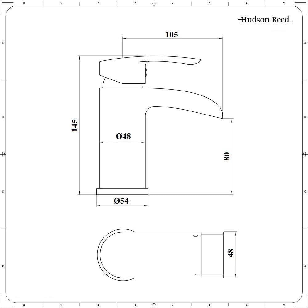 Livr/é avec Bonde Hauteur 14.5cm Robinet Mitigeur Cascade Monotrou pour Lavabo Hudson Reed